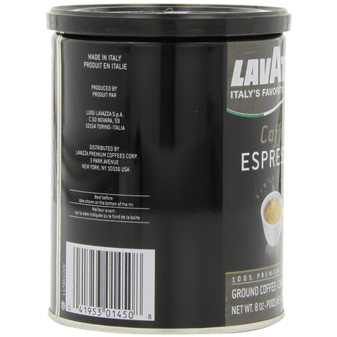 Lavazza Caffe Espresso - Ground Coffee 8-Ounce Cans