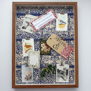 Copy of William Morris 'Brer Rabbit' Framed Notice Board - Navy Blue