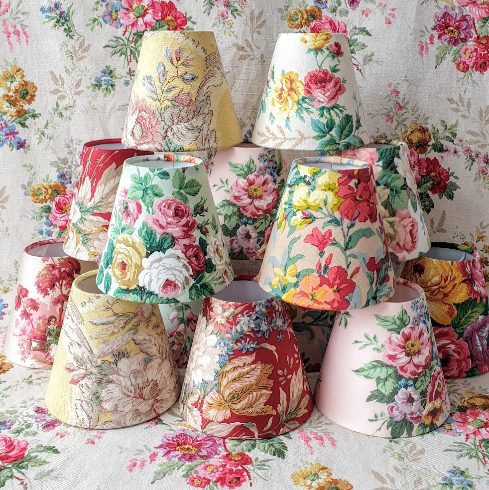 vintage floral candle shades
