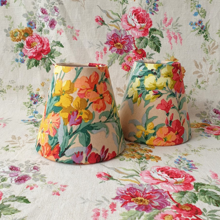Candle Shade In Sanderson Wallflower Design
