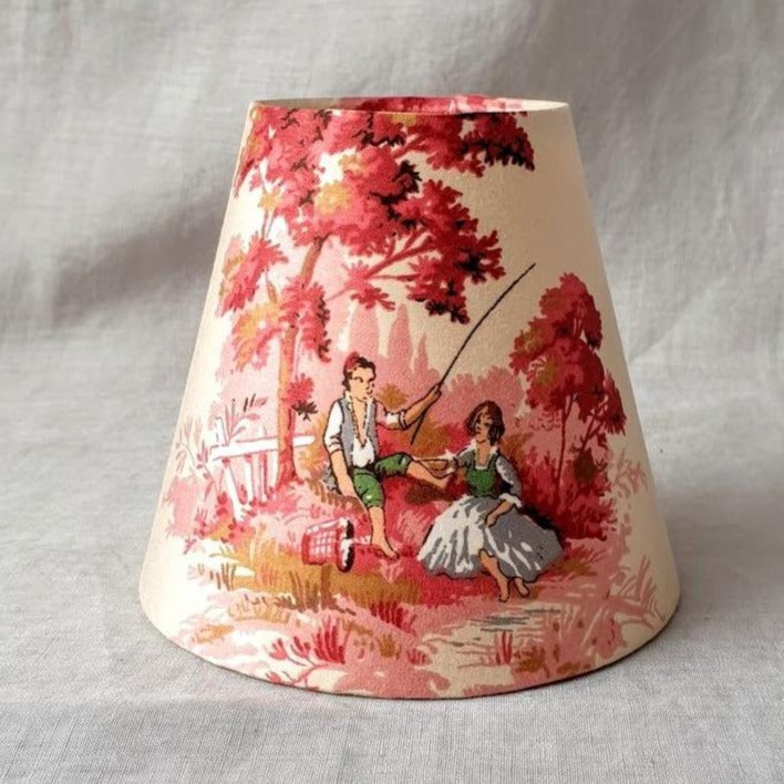 Copy of Candle Shade In Sanderson Cream Toile De Jouy