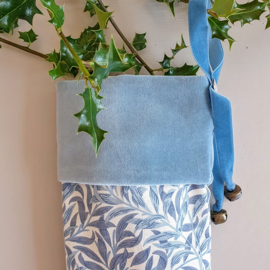 Morris & Co Christmas Stocking - Willow Bough Minor Blue