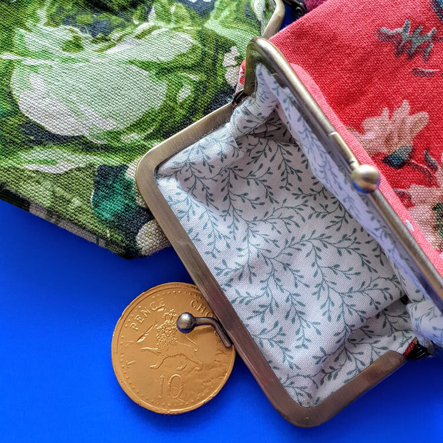 vintage chintz coin purse