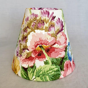 Vintage Floral Candle Shade In Sanderson 'Datchet' Design