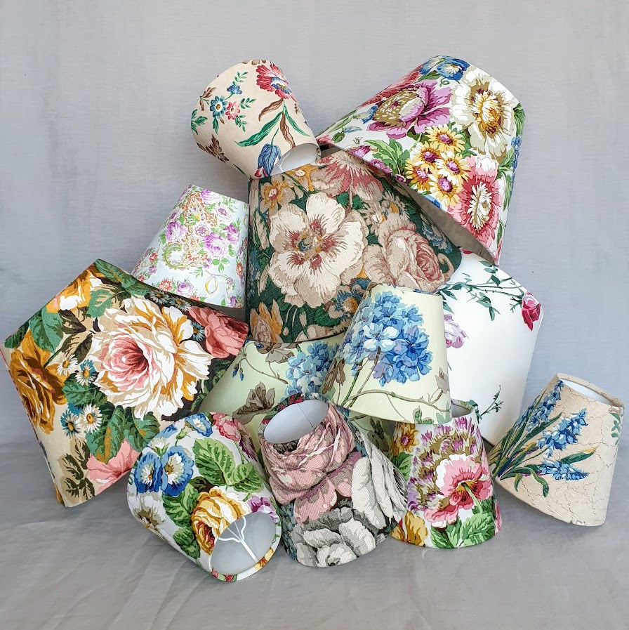 vintage floral lampshades and candle shades