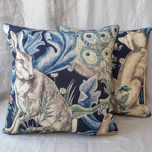Morris & Co 'Forest' Cushion In Indigo
