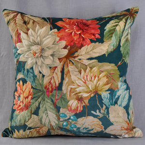 Large Cushion In Sanderson 'Dahlia And Rosehip Luxury velvet