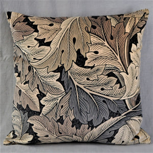 Morris & Co Acanthus Velvet Cushion Charcoal/Grey