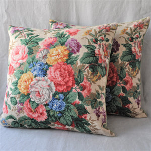 Vintage Fabric Cushion In Stunning Sanderson Florals