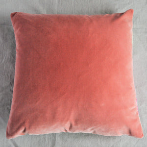 Sanderson Hollyhock Fabric Cushion - Mint/Pink