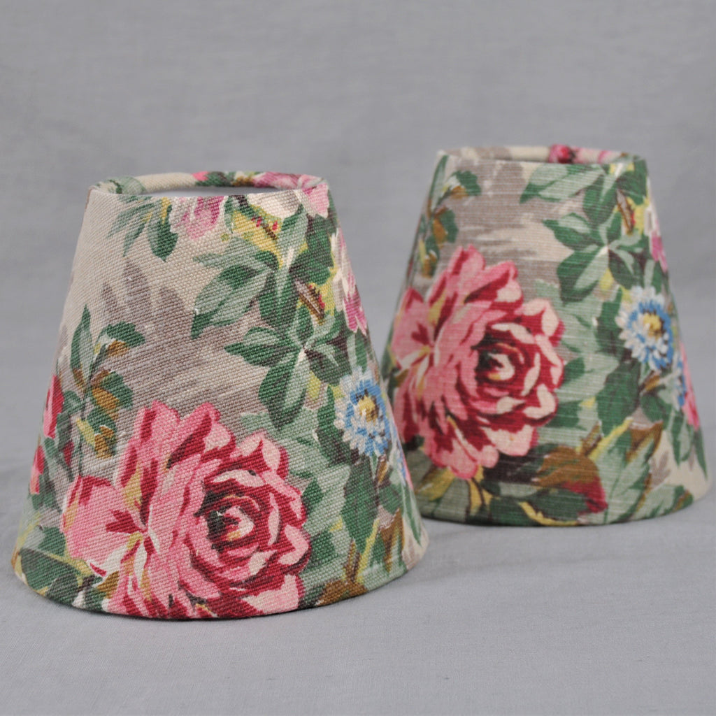Candle Shade In Pink Rose Countryside Fabric