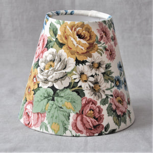 Candle Shade In Vintage Floral 'Dallant' Sanderson Fabric