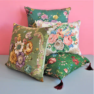 vintage fabric cushions