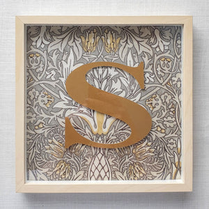 Morris & Co Personalised Initial Framed Picture  - Snakeshead