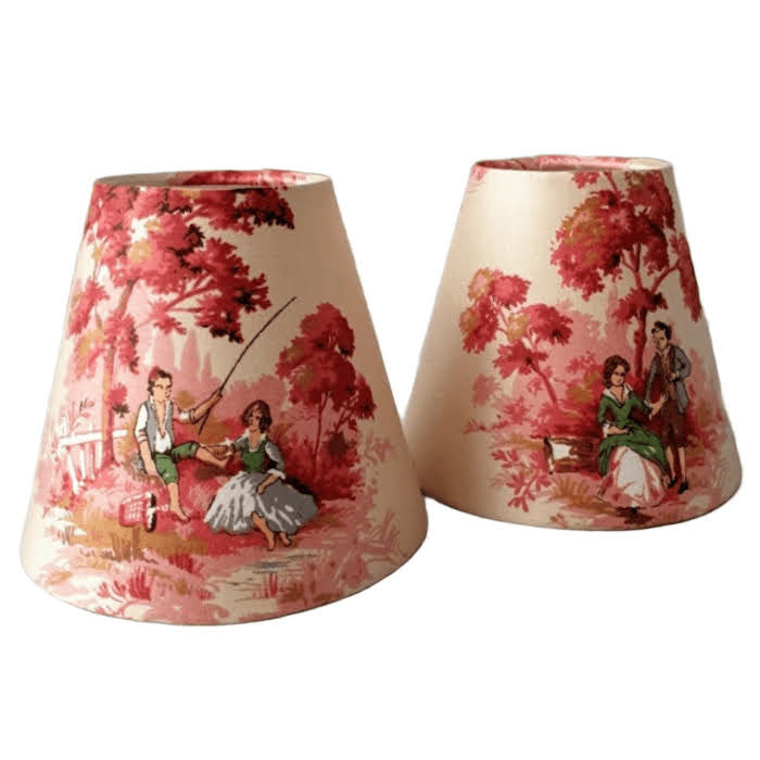 Candle Shade In Sanderson Cream Toile De Jouy