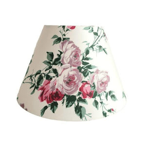Vintage Floral Lampshade In 1950s Rose Design