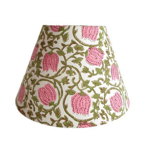 Indian Block Print Lampshade - Pink
