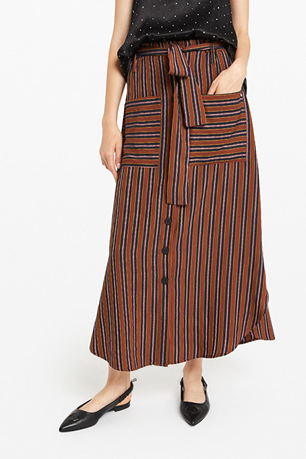 OTTO D'AME STRIPE BUTTON SKIRT - Ladies Clothing - Buy Online at the White Bicycle