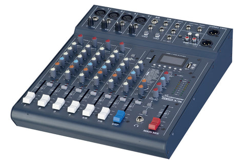 Studiomaster Club XS 8 - 8 input mixer with USB/SD Card Media player/recorder & bluetooth playback