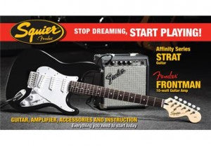New Squier Strat Guitar Pack 1