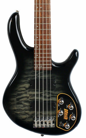 Cort Action Deluxe V Plus Bass Guitar (Trans Black)