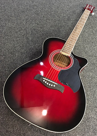 Richwood RA-12 Super Folk Electro-Acoustic (Red burst)