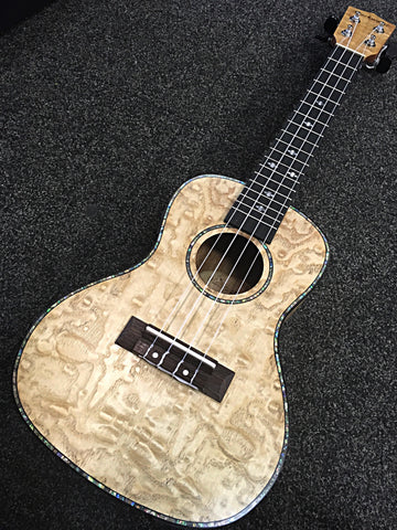 Blackwater Quilted Maple Concert Ukulele with EQ