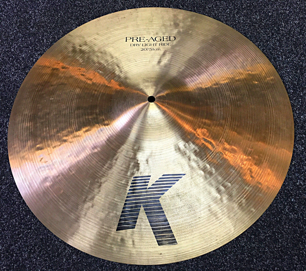 "Zildjain K 20"" Pre Aged Dry Light Ride (used)"