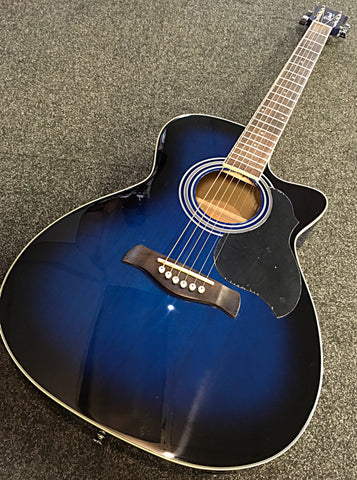 Richwood RA-12 Super Folk Electro Acoustic (Blue Burst)