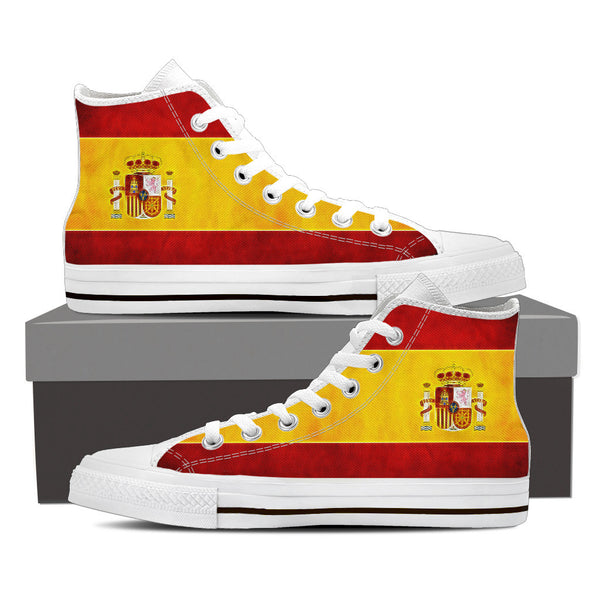 Love SPAIN High Top Canvas Shoes
