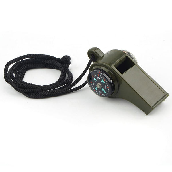 3 in 1 Outdoor Camping Emergency Whistle Compass Thermometer