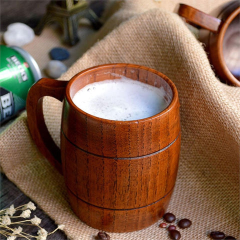 Handmade Old School Wooden Beer Mug