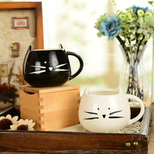 Cat porcelain mug