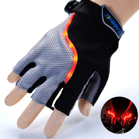 New 2016 LED Indicating Cycling Gloves