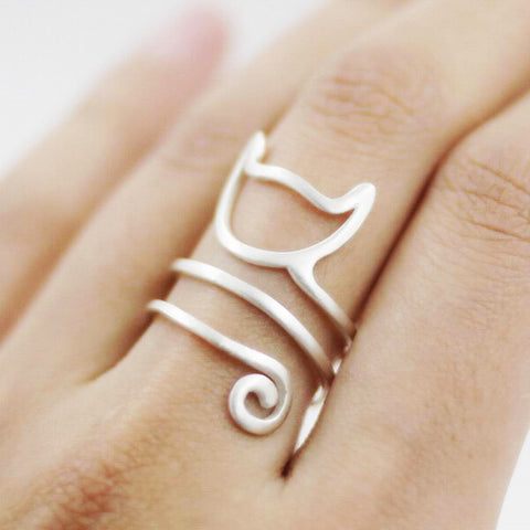 Cat Ring - 925 Sterling Silver