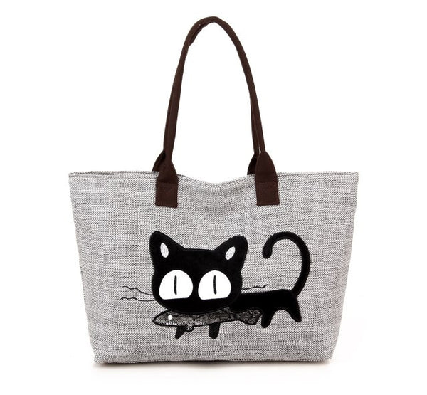 Cat Shoulder Tote Bag