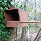 Kestrel nest box for mounting on pole or tree