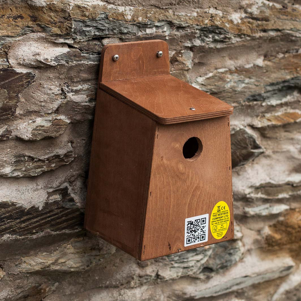 nesting box with entrance hole