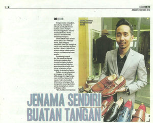 Zeve Shoes Featured in Harian Metro