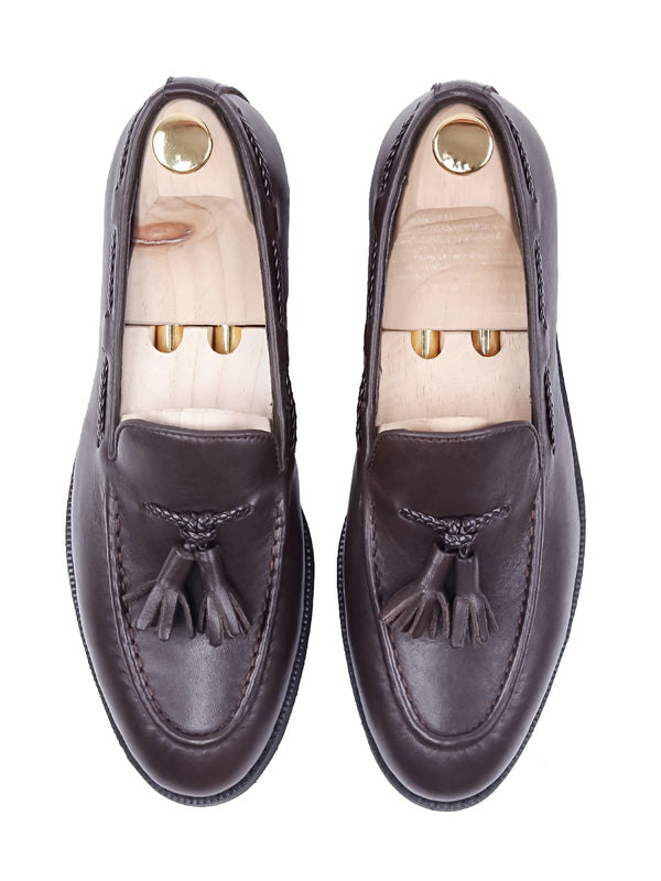 Tassel Loafer - Coffee Leather (Crepe Sole)