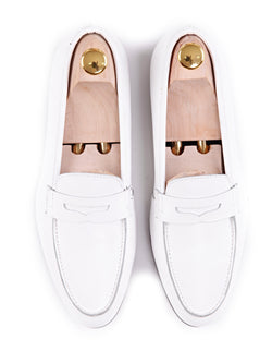 Women Penny Loafer in White