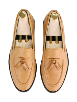 Tassel Loafer - Mustard Pebble Grain