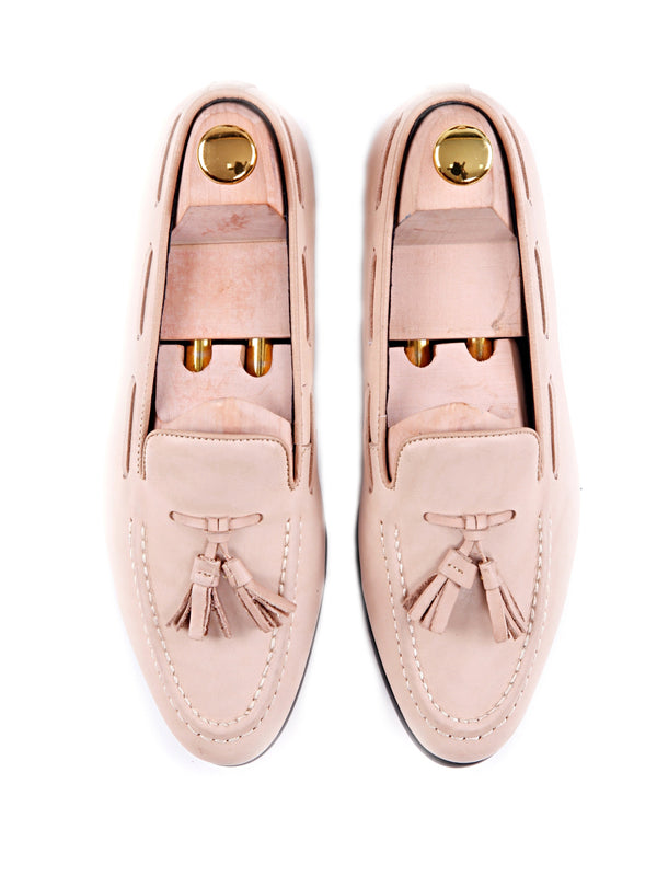 Women Tassel Loafer in Beige