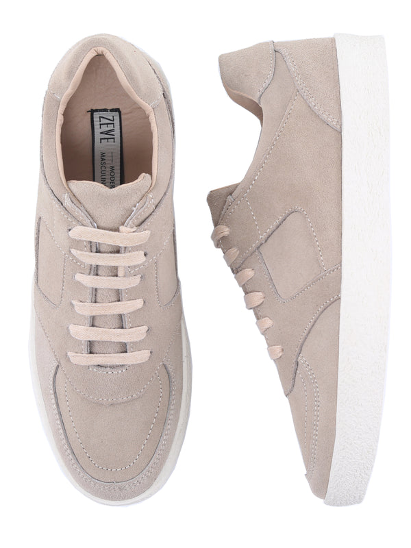 Mateo Sneakers - Khaki Suede Leather