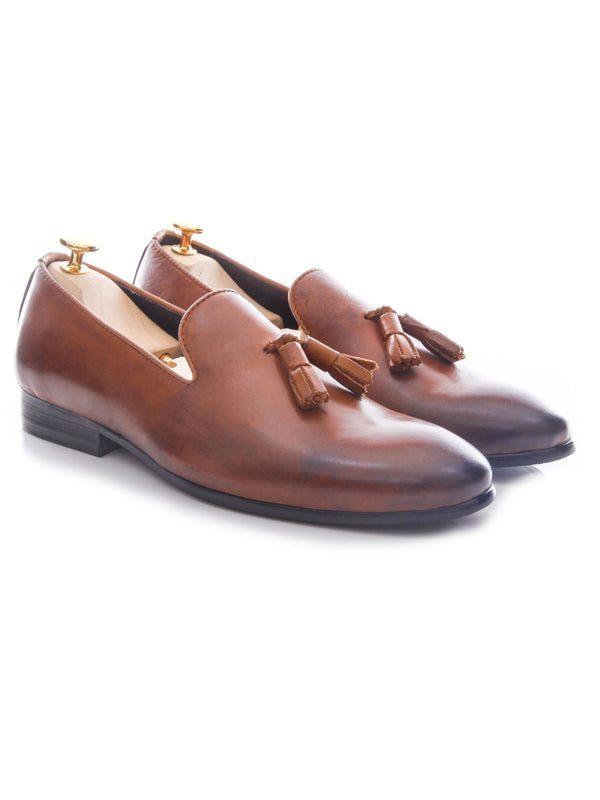 Loafer Slipper - Tan Burnished