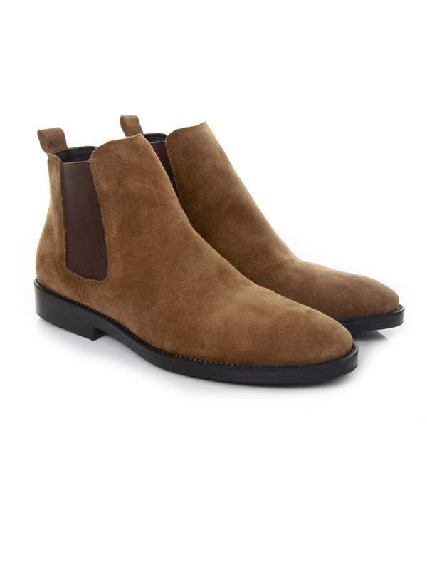 Chelsea Boots - Suede Leather Camel (Crepe Sole)