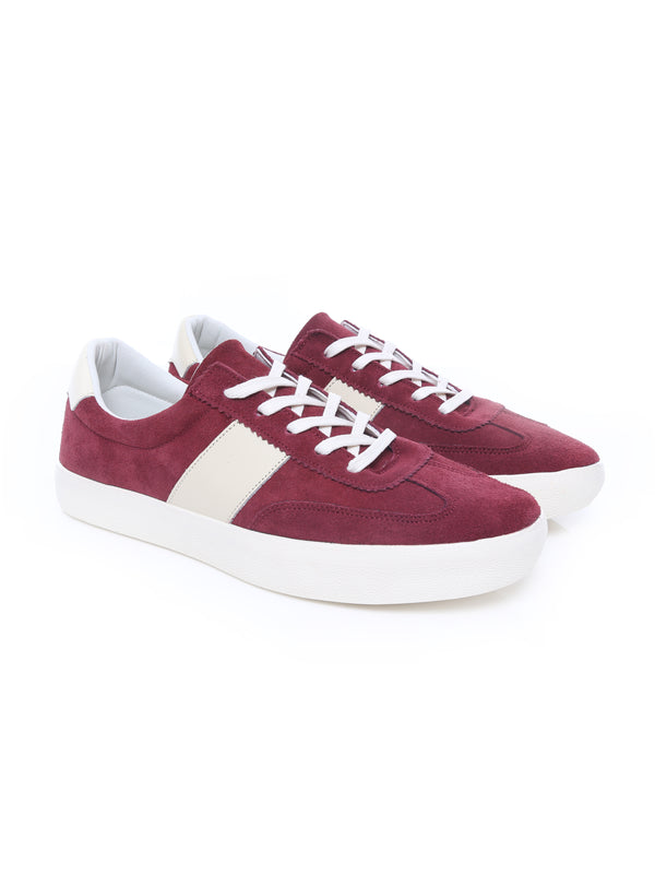 Luca Sneakers - Red Suede Leather