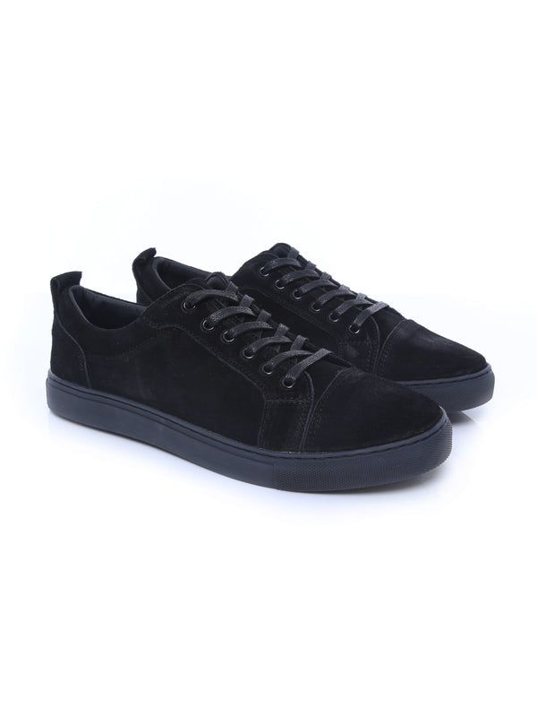 Pure Sneakers - All Black Suede Leather