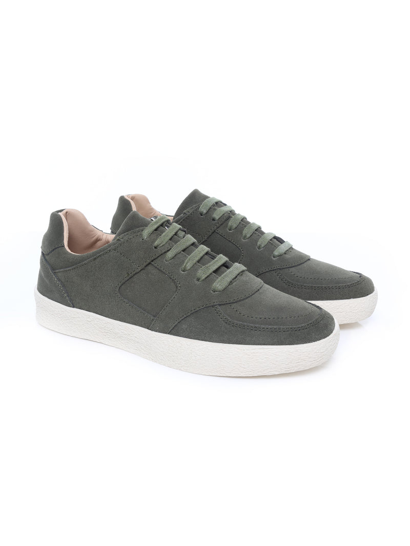 Mateo Sneakers - Army Green Suede Leather