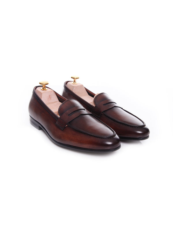 Women Penny Loafer in Dark Brown